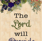 The Lord Will Provide – 5×7 Inch Digital Art / Download and Print